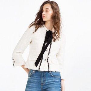 Zara White Sparkly Blazer